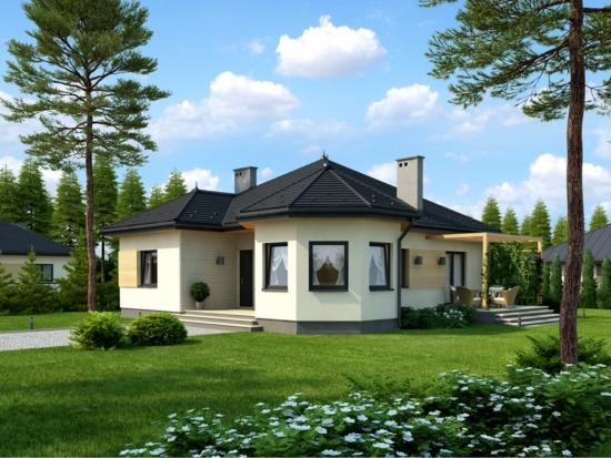 Proiect casa cu 3 camere fara etaj