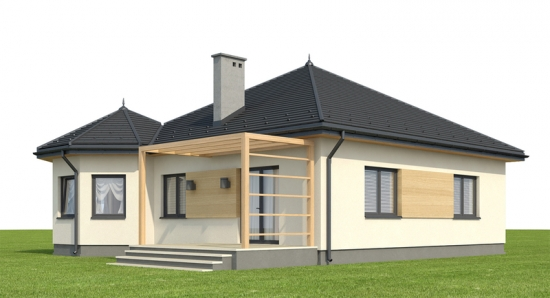 Schita casa fara etaj cu terasa