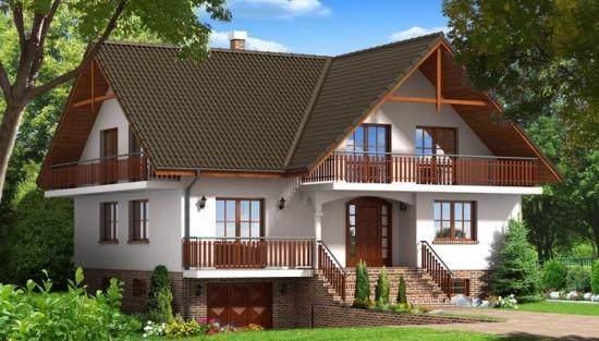 Proiect de casa cu beci si garaj locuinte mai spatioase for Proiecte case cu garaj si mansarda