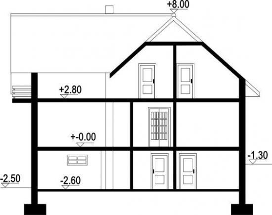 Casa cu garaj subteran