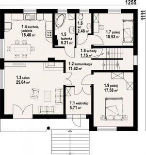 Parter cu living si 2 dormitoare