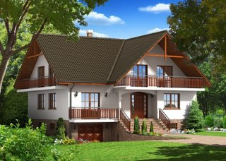 Proiect de casa cu beci si garaj