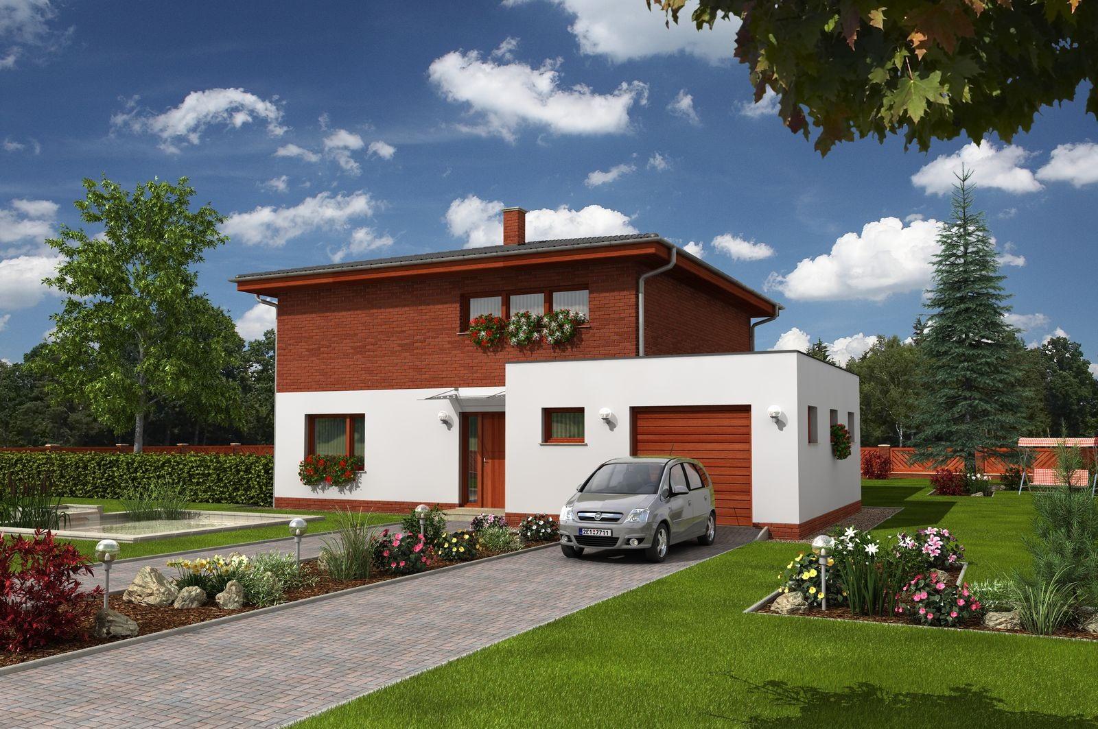 Proiect de casa cu etaj si garaj care isi plateste singura facturile
