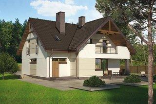 Casa cu balcon si terasa dedesubt