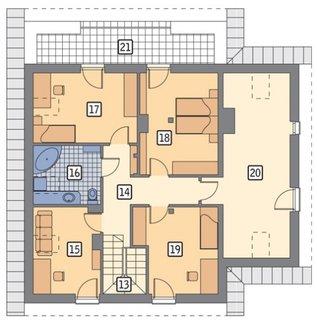 Etaj cu 4 camere plan