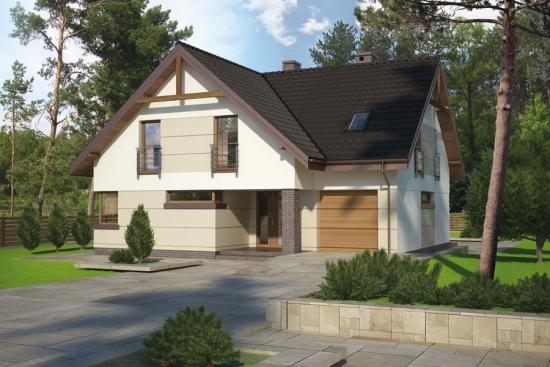 Proiect de casa cu etaj si pod