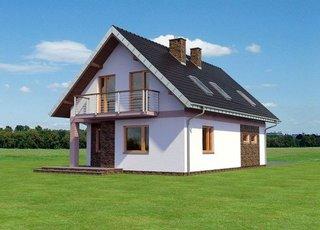 Vedere spate casa cu 4 dormitoare