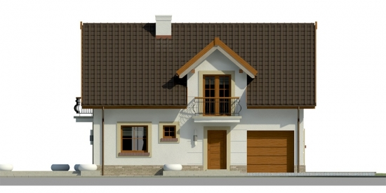 Elevatie casa cu 3 dormitoare si garaj