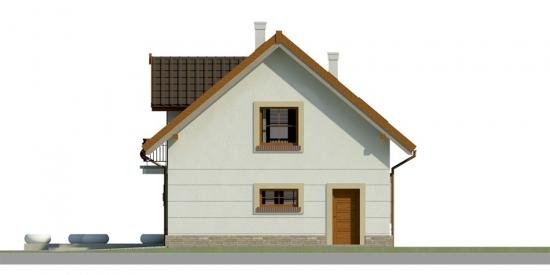 Elevatie dreapta casa cu 3 dormitoare si garaj