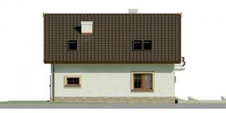 Elevatie spate casa cu 3 dormitoare si garaj