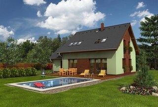 Casa cu mansarda si piscina in curtea din spate
