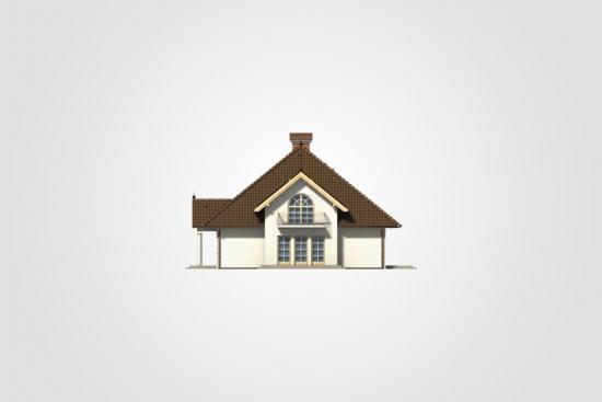 Casa cu balcon la mansarda