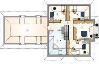 Plan mansarda casa mare