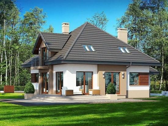 Proiect de casa cu patru dormitoare si garaj dublu