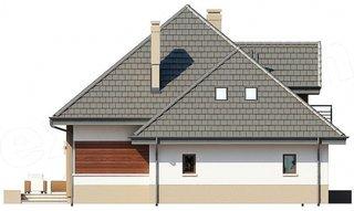 Casa cu mansarda vedere laterala