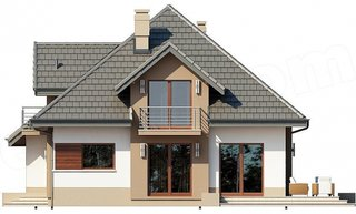 Plan leteral casa cu 5 camere