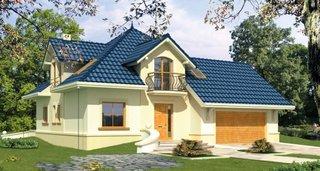 Proiect casa cu mansarda si balcoane