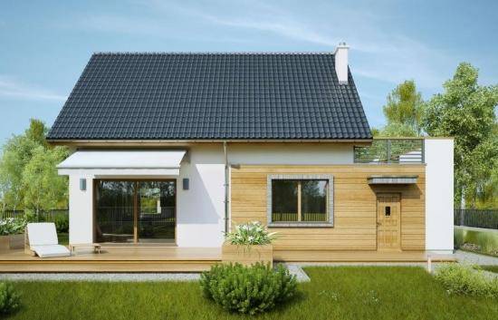 Casa eleganta decorata cu placi din lemn