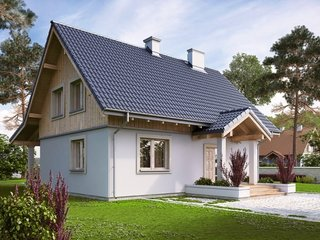 Proiect casa cu 3 camere la mansarda