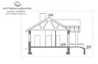 Plan vertical casa doua dormitoare si garaj