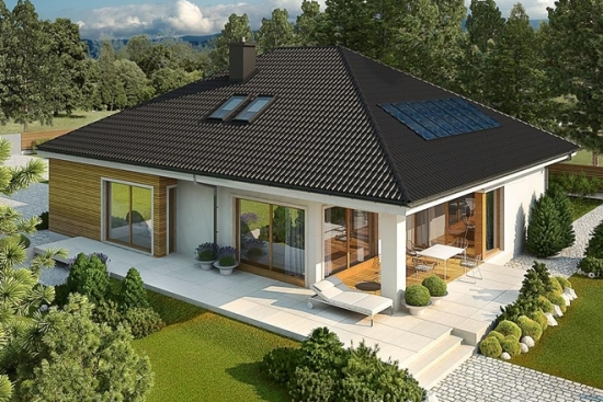 Proiect de casa cu parter cu terasa acoperita