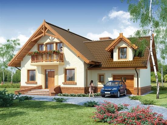 Casa cu garaj incorporat