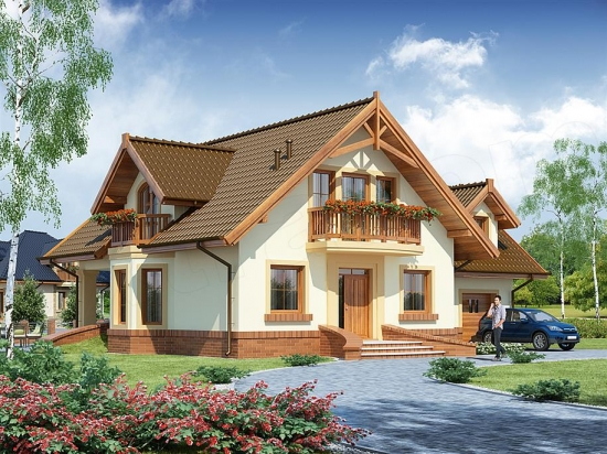 Casa cu mansarda si lucarne