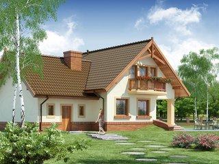 Model de casa in forma de T