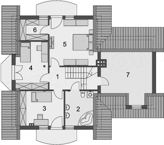 etaj de casa cu suprafata de 80 mp