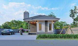 Model de casa ingusta cu suprafata mica