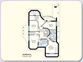 Plan etaj casa mare cu 6 dormitoare