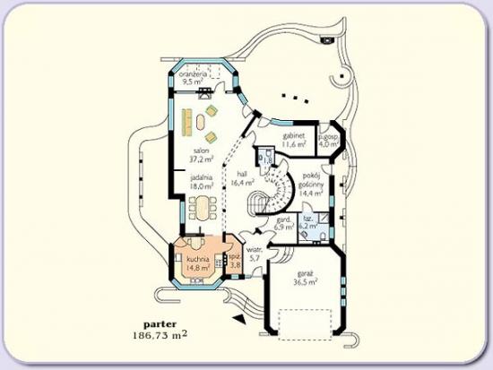 Plan parter casa mare cu 6 dormitoare