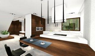 Amenajare modern minimalista pentru bucatarie