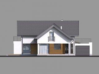 Casa cu mansarda si garaj lipit de casa