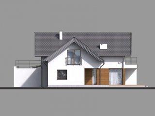 Casa cu terasa deasupra garajului