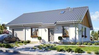 Proiect casa fara etaj cu garaj