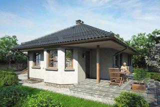 Casa cu veranda acoperita