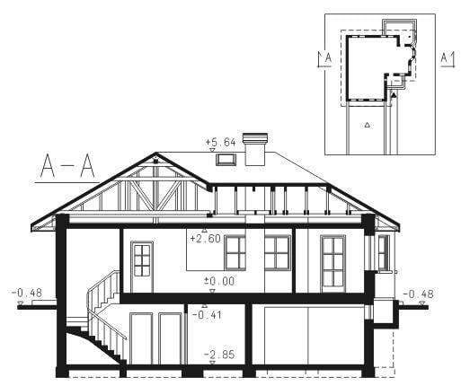 Dimensiuni inaltime casa cu 3 dormitoare