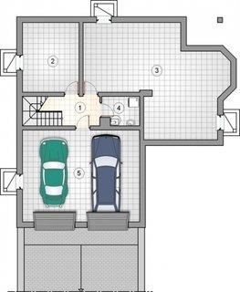 Plan subsol casa cu garaj pentru doua masini