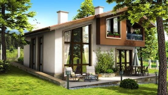 casa mica cu ferestre mari