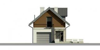 Plan fatada casa cu mansarda