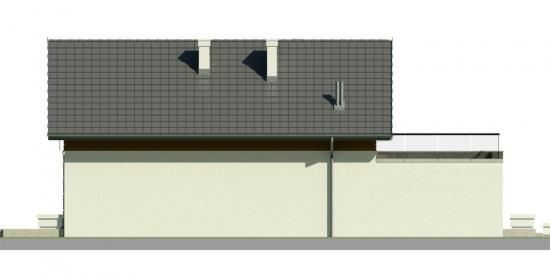 Vedere laterala fara geam casa cu mansarda