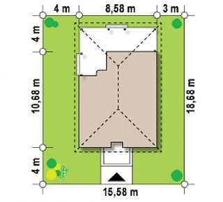 Amplasare casa amprenta 80 mp pe teren