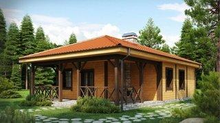 Casa mica din lemn de 65 mp