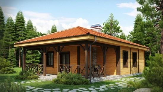 Proiect de casa mica de lemn - un interior de 65 de mp cu adevarat impresionant