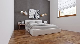 Dormitor mic cu mobila putina