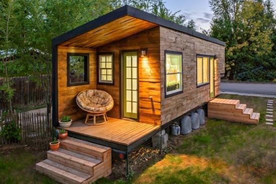 Proiect de casa de vacanta din lemn fara fundatie