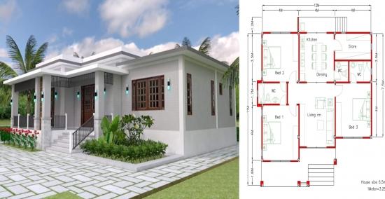 Casa mica si simpla cu 3 dormitoare
