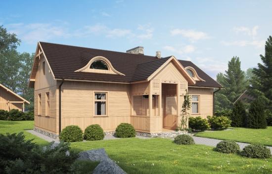 Proiect de casa mica din lemn cu design rustic