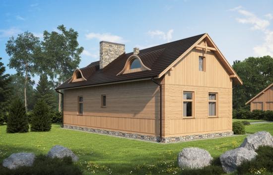 Casa rustica din lemn pentru locuinta la tara